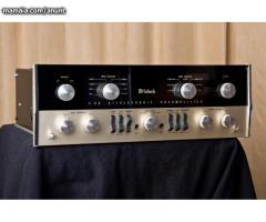 McIntosh C22 vacuum tube preamplifier with cabine