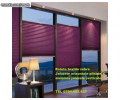 jaluzele textile zebre aluminiu Bucuresti plisate si verticale cu montaj