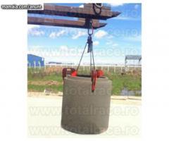 Ridicari cu clesti pentru tuburi din beton